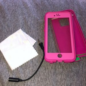 Hot pink Lifeproof case for iphone 6/6s